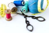 Spool of thread . Sew accessories. — Stock Photo