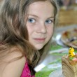 Young girl at a child's birthday party — Stock Photo #53720137