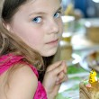 Young girl at a child's birthday party — Stock Photo #53720149