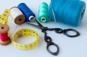Spool of thread . Sew accessories. — Stock Photo