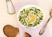 Hash - a traditional Russian cold soup — Stock Photo
