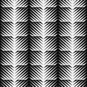 Black and white jagged edge seamless pattern — Vetor de Stock