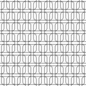 Black and white geomatric seamless pattern with line and round c — Stock Vector