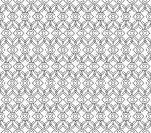 Black and white geometric seamless pattern with line and round c — Stock Vector
