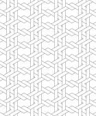 Black and white geometric seamless pattern with line and weave s — Stock Vector