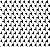 Black and white geometric seamless pattern with zigzag line and — Stock Vector