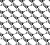 Black and white geometric seamless pattern abstract background — Vector de stock