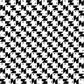 Black and white geometric seamless pattern abstract background — ストックベクタ
