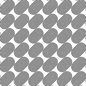 Black and white seamless pattern with line and oval shape. — Vector de stock