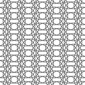 Black and white geometric seamless pattern with line. — ストックベクタ