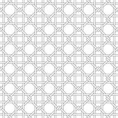 Black and white geometric seamless pattern with weave style. — Stock Vector