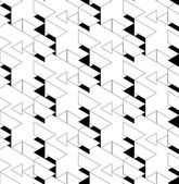 Black and white geometric seamless pattern with triangle and tra — Stock Vector