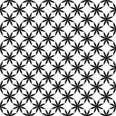 Black and white seamless pattern with flower style, abstract bac — Stok Vektör