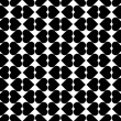 Black and white seamless pattern with heart stylish. — ストックベクタ #61608041