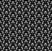 Black and white geometric seamless pattern, abstract background — Stock Vector
