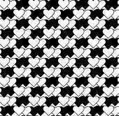 Black and white seamless pattern with heart stylish. — Stock Vector