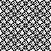 Black and white geometric seamless pattern, modern stylish. — Stock Vector