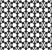 Black and white seamless pattern with flower style. — Vector de stock