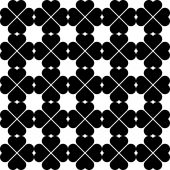Black and white seamless pattern with heart stylish, abstract ba — Vector de stock