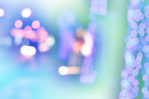 Colorful defocused bokeh lights background. — Stock Photo