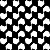 Black and white geometric seamless pattern, abstract background. — Stockvektor