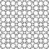 Svart och vitt geometriska seamless mönster med line och circle, abstrakt bakgrund. — Stockvektor
