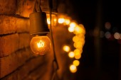 Lamp decorated on wall. — Stock Photo