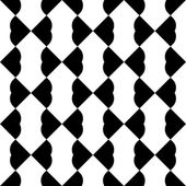 Black and white geometric seamless pattern with heart stylish, abstract background. — Stock Vector