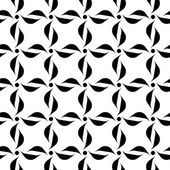 Black and white seamless pattern with flower style, abstract background. — Stock Vector