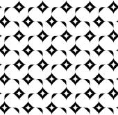Black and white geometric seamless pattern, abstract background. — Vettoriale Stock
