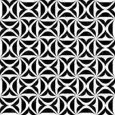 Black and white geometric seamless pattern, abstract background. — Stock vektor