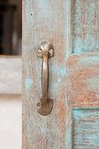 Old brass doorhandle. — Stock Photo