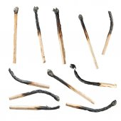 Set of matchstick was burned. — Stock Photo