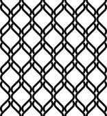 Black and white geometric seamless pattern modern stylish with wavy line, abstract background. — Vettoriale Stock
