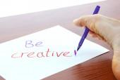 Be creative — Stock Photo