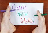 Gain new skills — Stock Photo