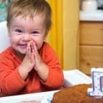Happy boy celebrates his first birthday — Stock Photo #60163073