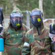 Two paintball players with headshots — Stock Photo #60163017