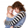 Mom embraces her sad little baby — Stock Photo #62286339