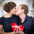 Two lovers kissing — Stock Photo #69433477