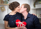 Two lovers kissing — Stock Photo