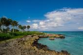 Dominik Cumhuriyeti, Seyşeller, Caribbean, Mauritius, Filipinler, Bahamalar uzak tropik cenneti sahilde rahatlatıcı. — Stok fotoğraf