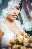 Portrait of the bride with a veil. Wedding theme. — Stock Photo