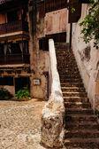 Ancient village Altos de Chavon - Colonial town reconstructed in Dominican Republic. Casa de Campo, La Romana, Dominican Republic. Ponderosa-style, tropical seaside resort — Stock Photo