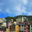 Aerial view of Vernazza - small italian town in the province of La Spezia, Liguria, northwestern Italy. — Stock Photo #71740867