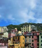 Aerial view of Vernazza - small italian town in the province of La Spezia, Liguria, northwestern Italy. — Stock Photo
