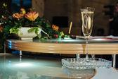 Wedding glasses of champagne — Stock Photo