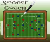 Ardósia de treinador de futebol — Vetor de Stock