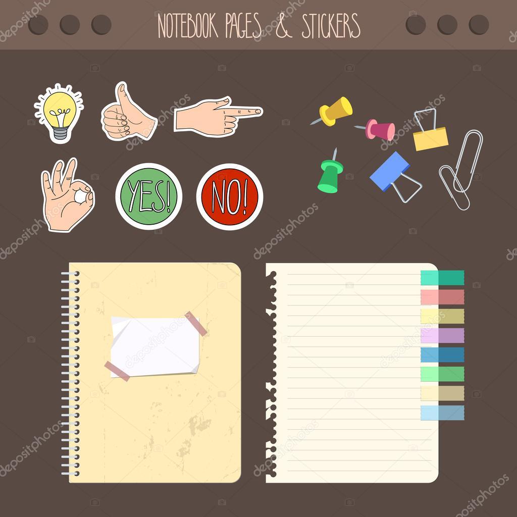 Conjunto de cuaderno de p ginas con stickers coloreada la - Accesorios para scrapbooking ...
