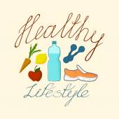 Healthy lifestyle diet — Stock Vector